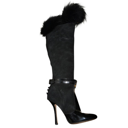 Dsquared2 Boots with fur details