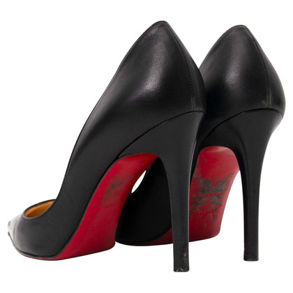 Christian Louboutin So Kate Black Leather Pumps