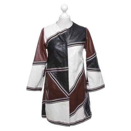 Missoni Leather coat in multicolor