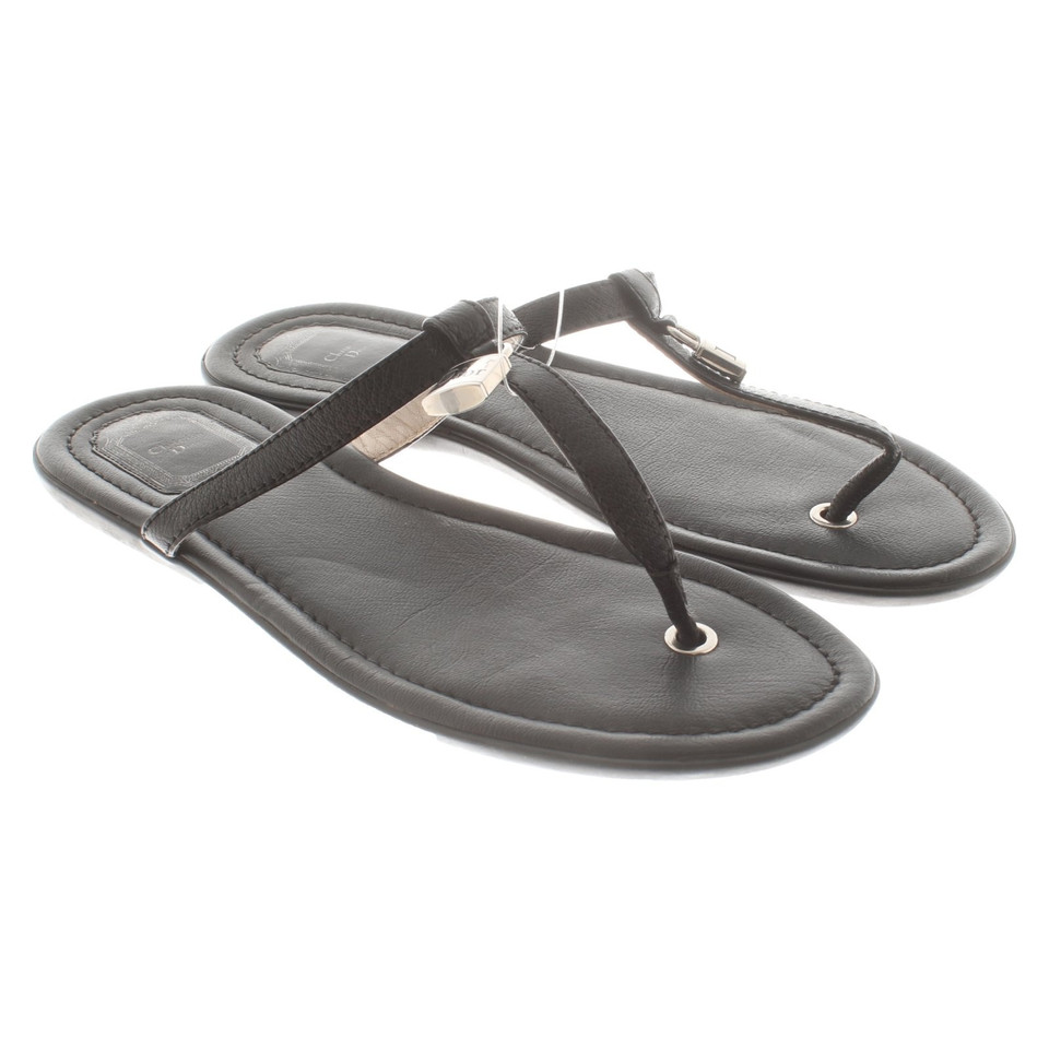 Christian Dior Sandales en noir