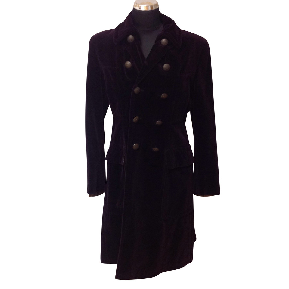 jean paul gaultier manteau de velours acheter jean paul gaultier manteau de velours second. Black Bedroom Furniture Sets. Home Design Ideas