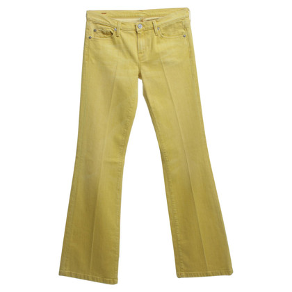 7 For All Mankind Jeans in mustard yellow