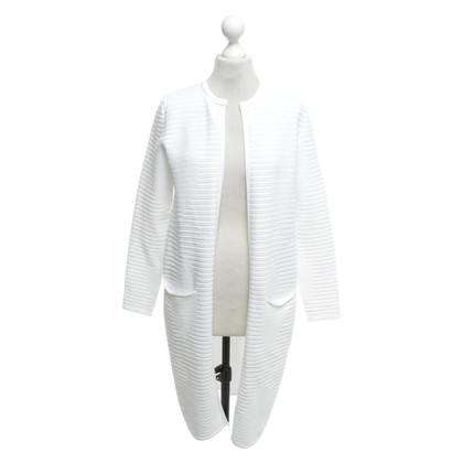 Hugo Boss Knitted coat in white