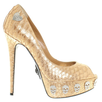 Philipp Plein Peeptoes of reptile leather