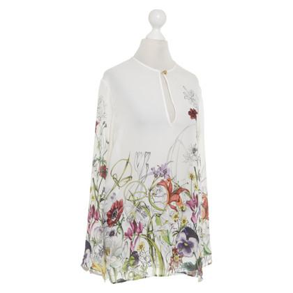 Gucci Blusa in seta con stampa floreale