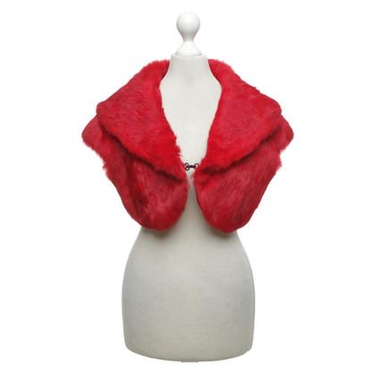 Karen Millen Bolero di pelliccia in rosso
