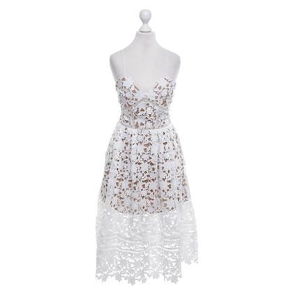 Self-Portrait Kleid in Weiß