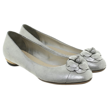 Chanel Silver-colored ballerinas