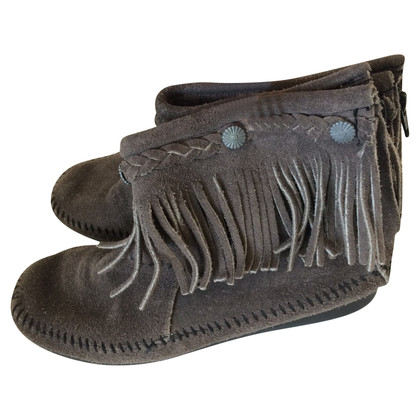Minnetonka Suede ankle boots gray 38