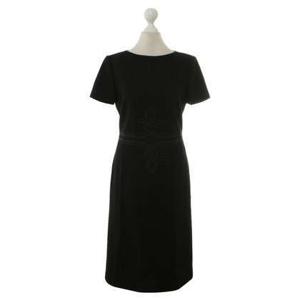 Rena Lange Schwarzes Kleid mit Applikation