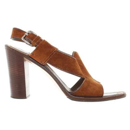 Prada Wild leather pumps in cognac brown