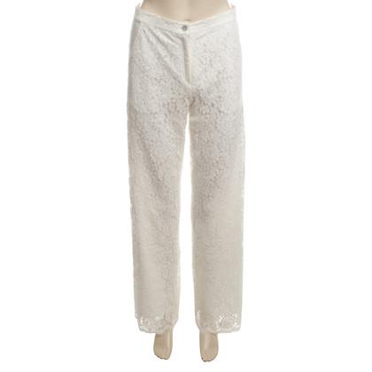 Valerie Khalfon  White lace trouser 42