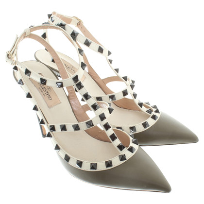 Valentino Rockstud-pumps in Khaki