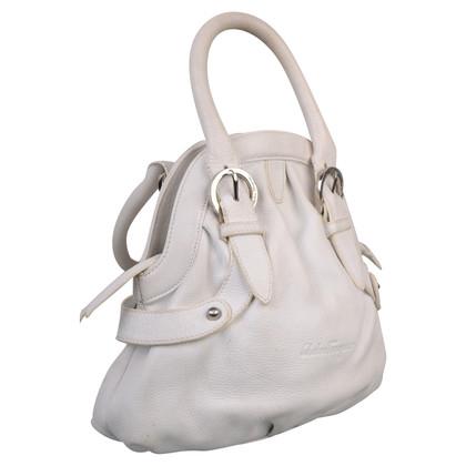 Salvatore Ferragamo Weiße Lederhandtasche