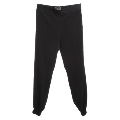 By Malene Birger Black trousers with Tuxedostreifen