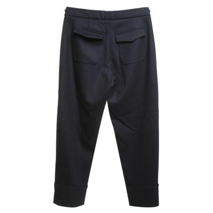 Odeeh Wool-trousers in dark blue