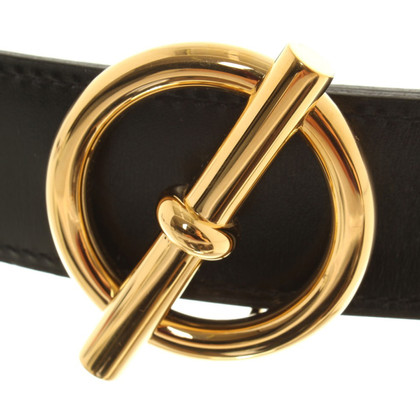 Hermès reversible belt with gold colored buckle