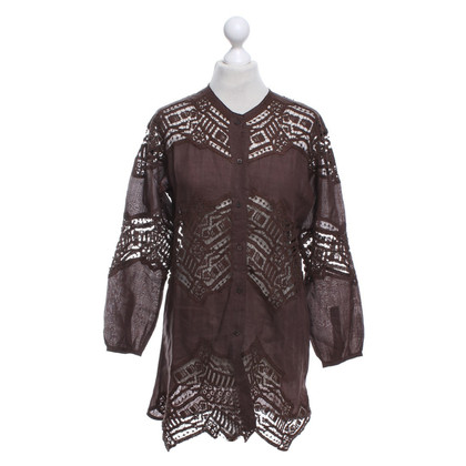Ermanno Scervino Blouse in donkerbruin