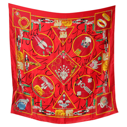 Cartier Silk cloth in red