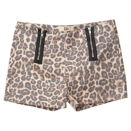 Rika Leopard print shorts
