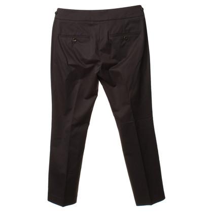 Brunello Cucinelli Piega pantaloni grigio scuro