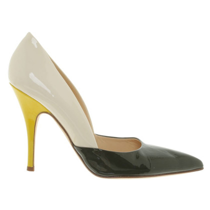 Kate Spade pumps in green / white / yellow