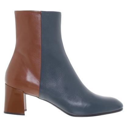 Jil Sander Ankle boots in brown / teal