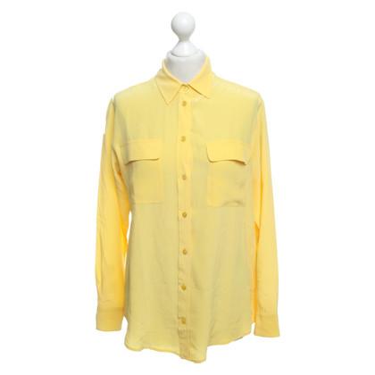 Equipment Silk blouse in yellow