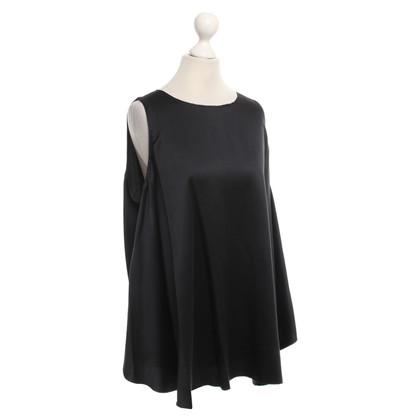 Halston Heritage blouse de soie en noir