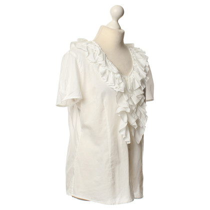 Van Laack White blouse with Ruffles
