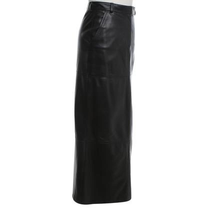 St. Emile Leather maxi skirt