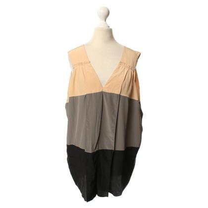 BCBG Max Azria Mouwloos zijden blouse