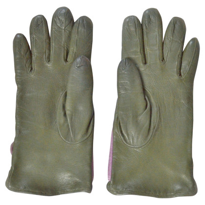 Armani Leather gloves in green