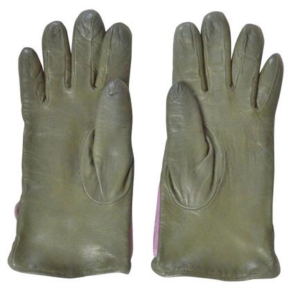 Armani Leren handschoenen in Green