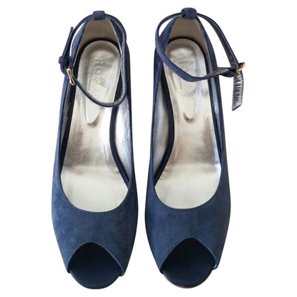 Hogan Blue suede sandals