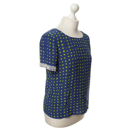 Moschino Cheap and Chic Zijden blouse met patronen
