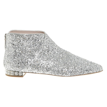 Miu Miu Ankle boots with glittering surface