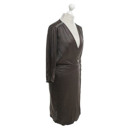 Humanoid Wrap dress in dark brown