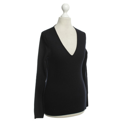 René Lezard Wool Sweater in dark blue