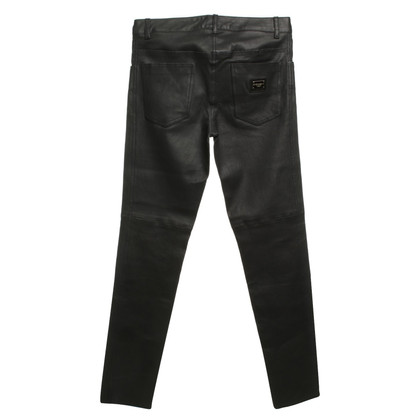 Dolce & Gabbana Pantaloni di pelle in nero