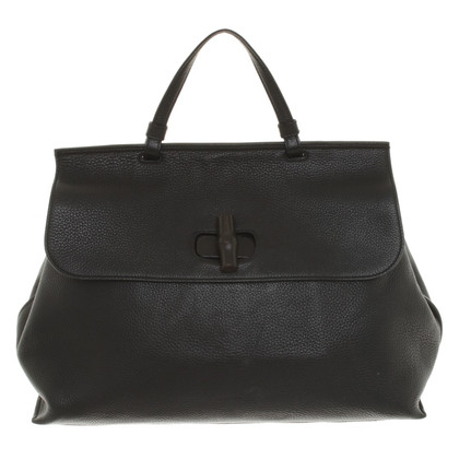 "Gucci ""Bamboo Daily Large"" in Black"