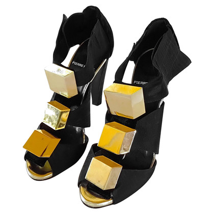 Pierre Hardy Sandals in black / gold
