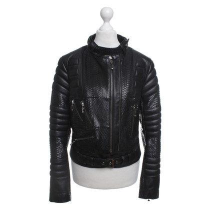 Philipp Plein Leather Jacket Python Leather