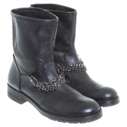 Pinko Biker boots in black