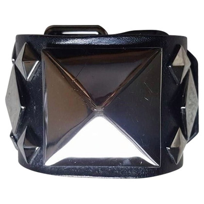 Givenchy Black leather bracelet