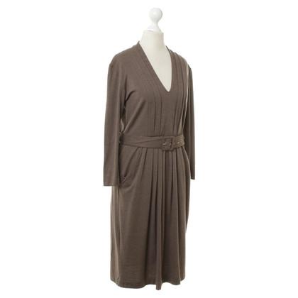 Etro riem jurk in bruin
