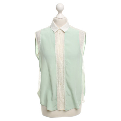 Sandro Blouse in mint green