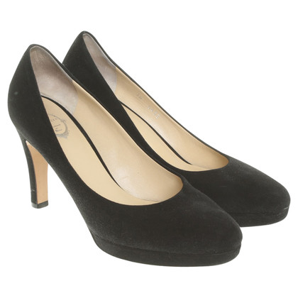 Unützer pumps pelle in nero