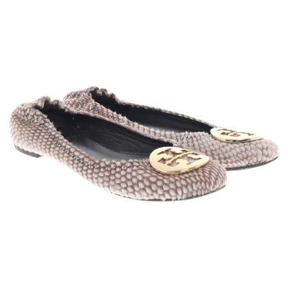 Tory Burch Ballerinas with pony fur trim