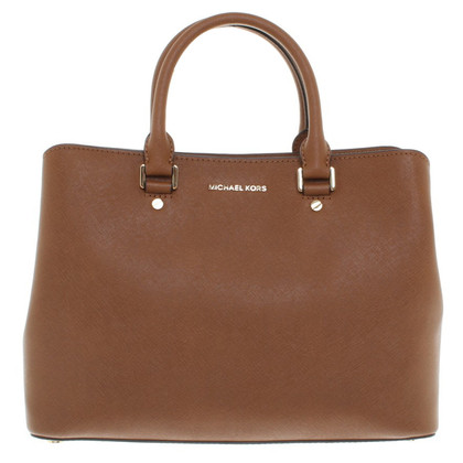 Michael Kors Savannah LG Leather Satchel Luggage